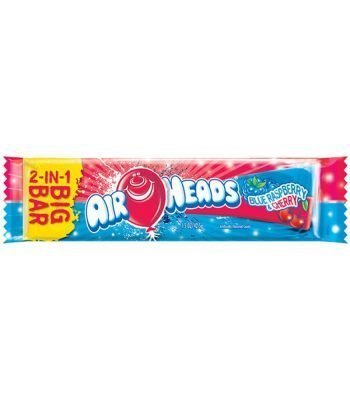 Airheads 2 in 1 bar 42.5g pink blue raspberry/cherry 3