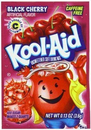 Kool Aid 4.6g sachets black cherry 3