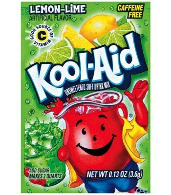 Kool Aid 4.6g sachets lemon/lime 3