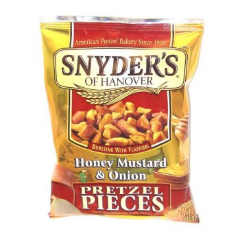 Synders pretzel pieces honey mustard and onion 125g 3