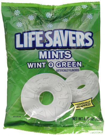 Lifesavers hard candy mints wint o green 177g bag 3
