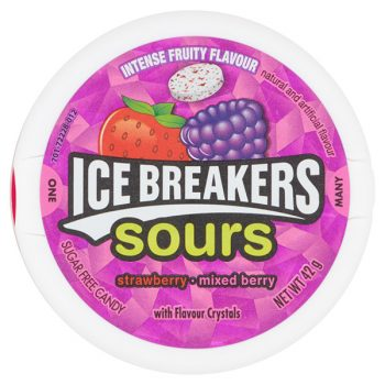 Ice breakers Sours Strawberry and Mixed Berry - 42g Pack 3