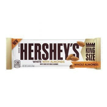 Hershey's White Whole Almonds King Size - 73g Bar 3