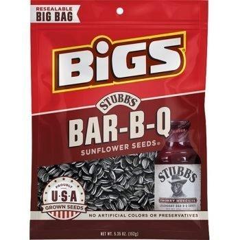 Bigs Stubbs Bar-B-Q Sunflower Seeds Big Bag 5.35 Oz 3