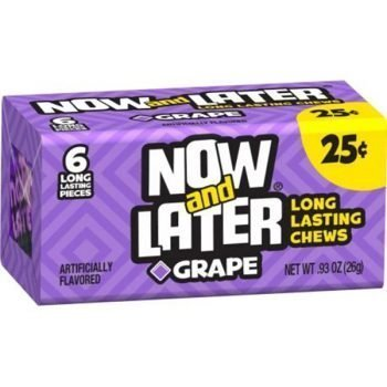 Now and Later Chew Grape - 26g Pack 3