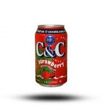 C & C Strawberry 355ml 6