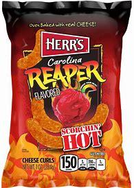Herr's carolina reaper cheese curls 6.5oz 3