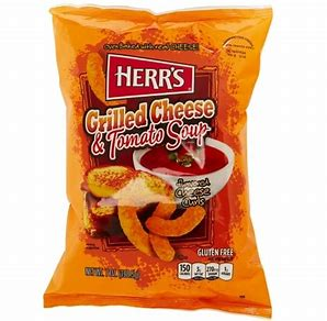Herr's grilled cheese and tomato soup curls 6.5oz 3
