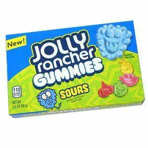 NEW! Jolly Rancher Gummies Sours Theatre Box 3.5oz 3