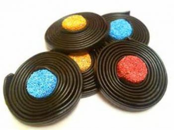 Liquorice catherine wheels (6 wheels per pack) 3