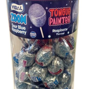 Blue raspberry tongue painter zoom lolly 3