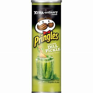 Pringles screaming dill pickle 5.5oz 3