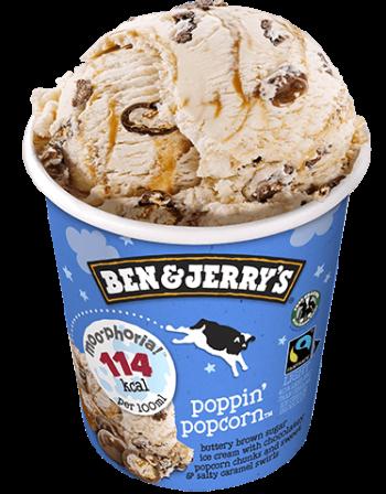 Ben & Jerry Moo-phoria Popping Popcorn 465ml Tub 3