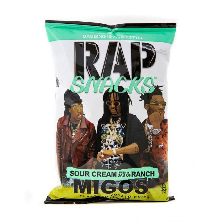 Rap Snacks Migos Sour Cream with a dab of Ranch