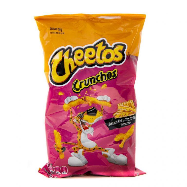 Cheetos Crunchos Cheese and Ham Toastie