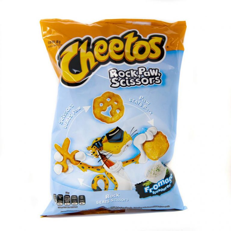 FRITO LAY CHEETOS ROCK PAW SCISSORS FROMAGE