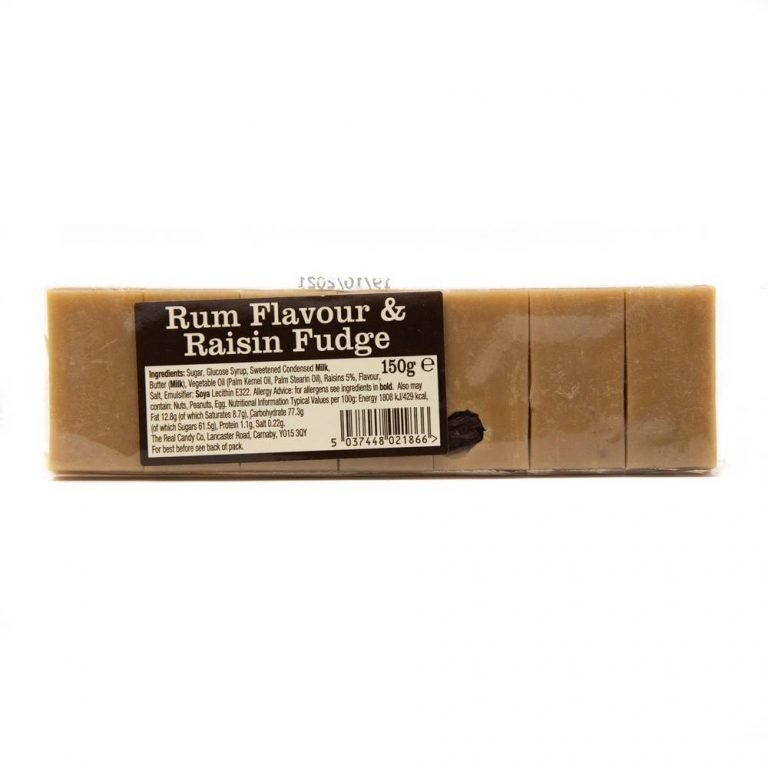 Rum and raisin flavour fudge bar