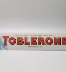 Toblerone White Chocolate with Honey & Almond Nougat 6