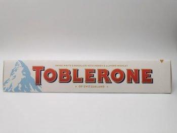 Toblerone White Chocolate with Honey & Almond Nougat 3