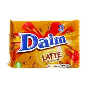 Daim Bar Caramel Latte. Limited Edition Triple pack