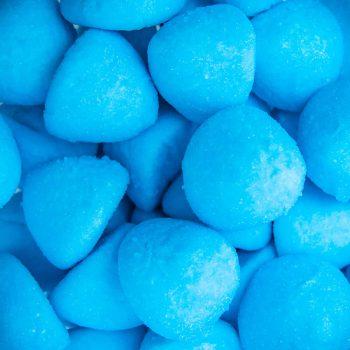 Blue paint balls marshmallows