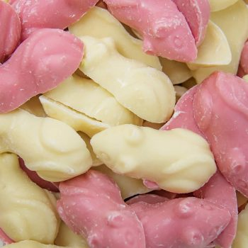 Chocolate Pink and White Mice 2