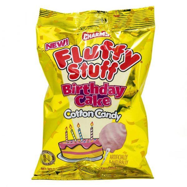 Fluffy Stuff Birthday Cake Cotton Candy 2.1oz 2
